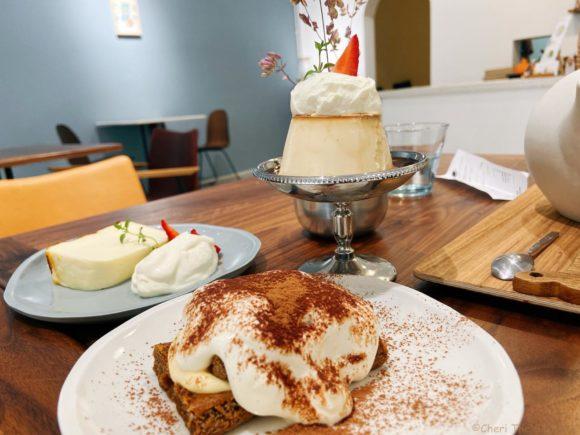Trung Cafe3種類のスイーツ