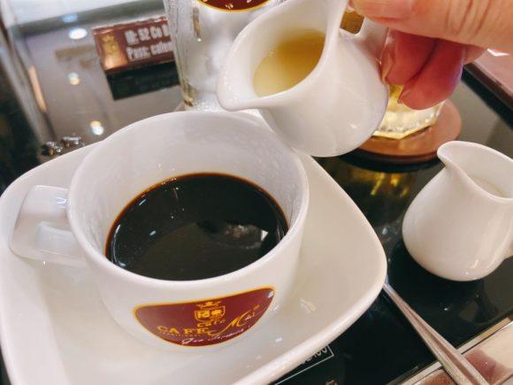 Cafe Mai コーヒーに練乳プラス